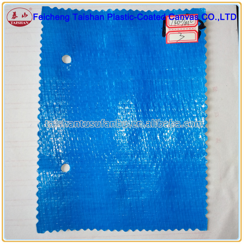 140gsm double colors blue and white PE tarpaulin