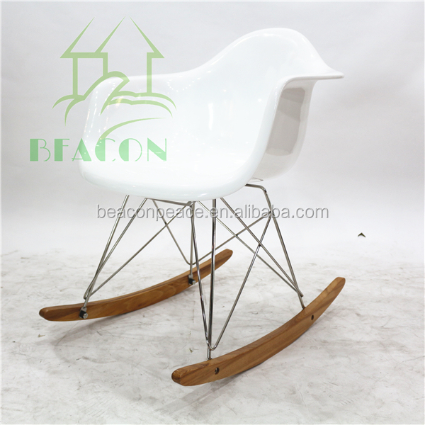 Replica white Fiberglass Rocking Chair