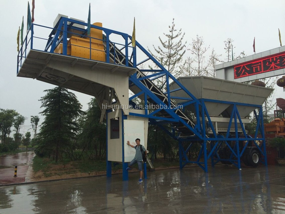 Hot Sale YHZS60 Ready Mixed Mobile Concrete Batching Plant