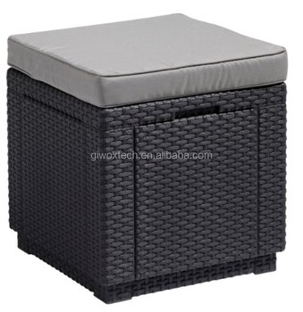 Outdoor/Indoor Wine Cooler Ice Bucket Rattan Wicker Cooler Box Ice Storage Box
