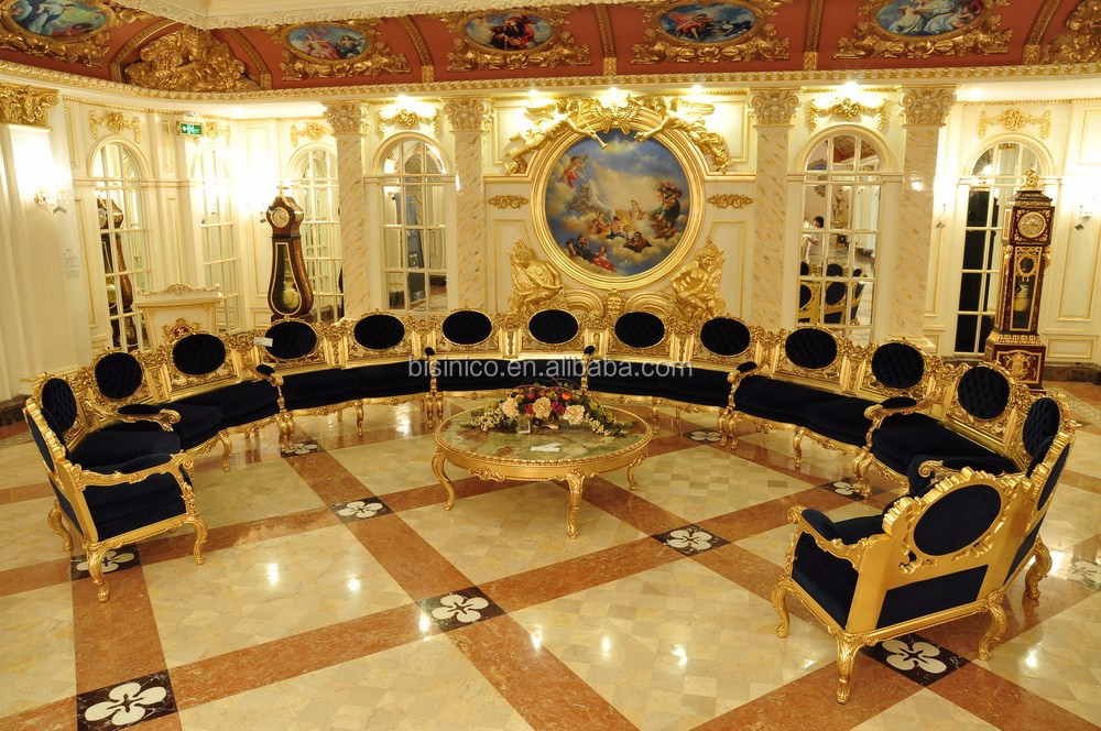 European Royal Large Meeting Room Furniture and Decoration Set, Luxury Designed Conference Room Furniture