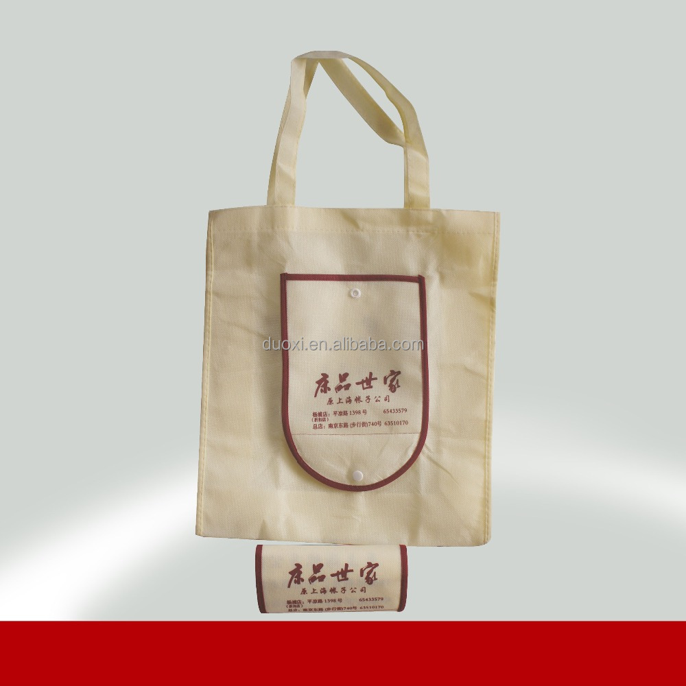 Promotion no woven cheap price shopping folding bag 100% manufacturer