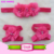 Top Quality Boutique Kids Baby Children Feather Pattern Hairbands Turban Knotted Rabbit Headwraps Baby Elastic Flower Headbands
