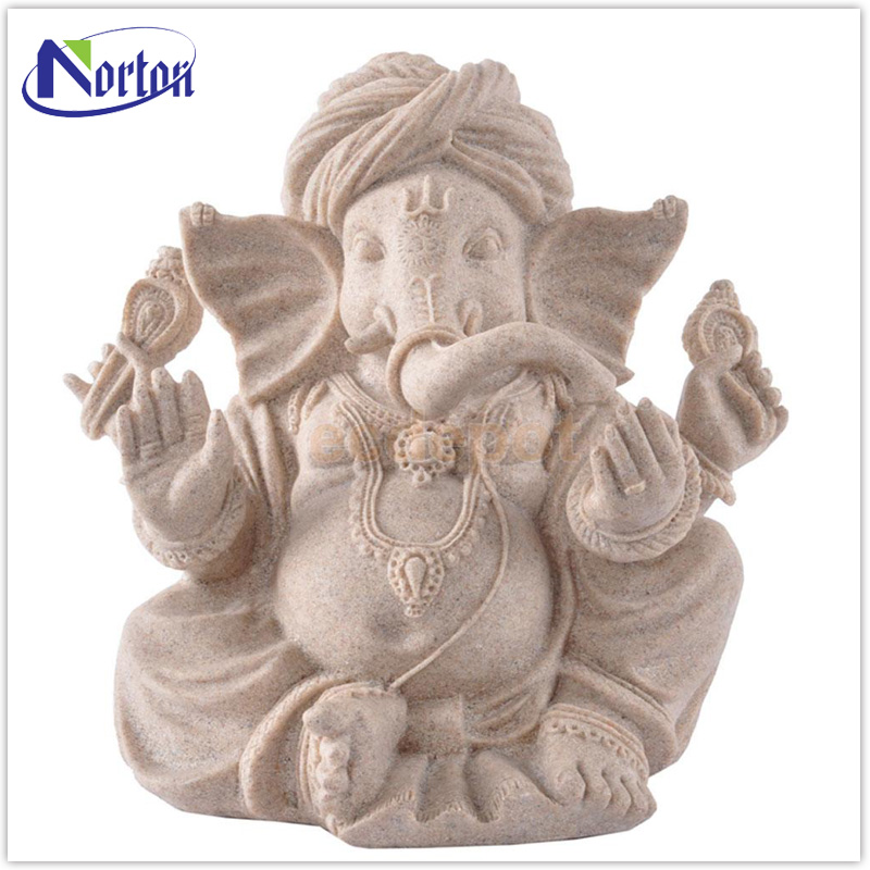 Indoor decor India sandstone lord ganesha stone marble statue NTMS-051Y