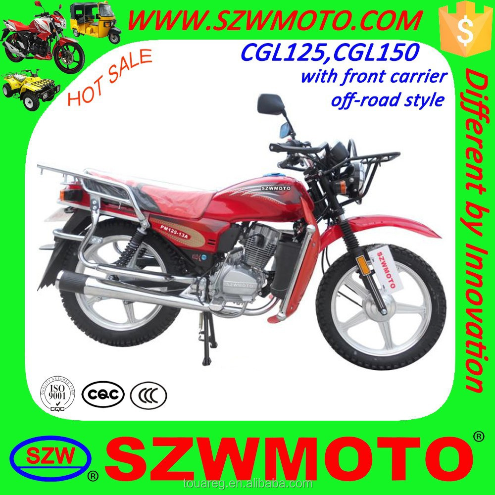 Hot Sale Affordable Classic off road WH125 SL125-2 CGL125 Motorcycle with front carrier