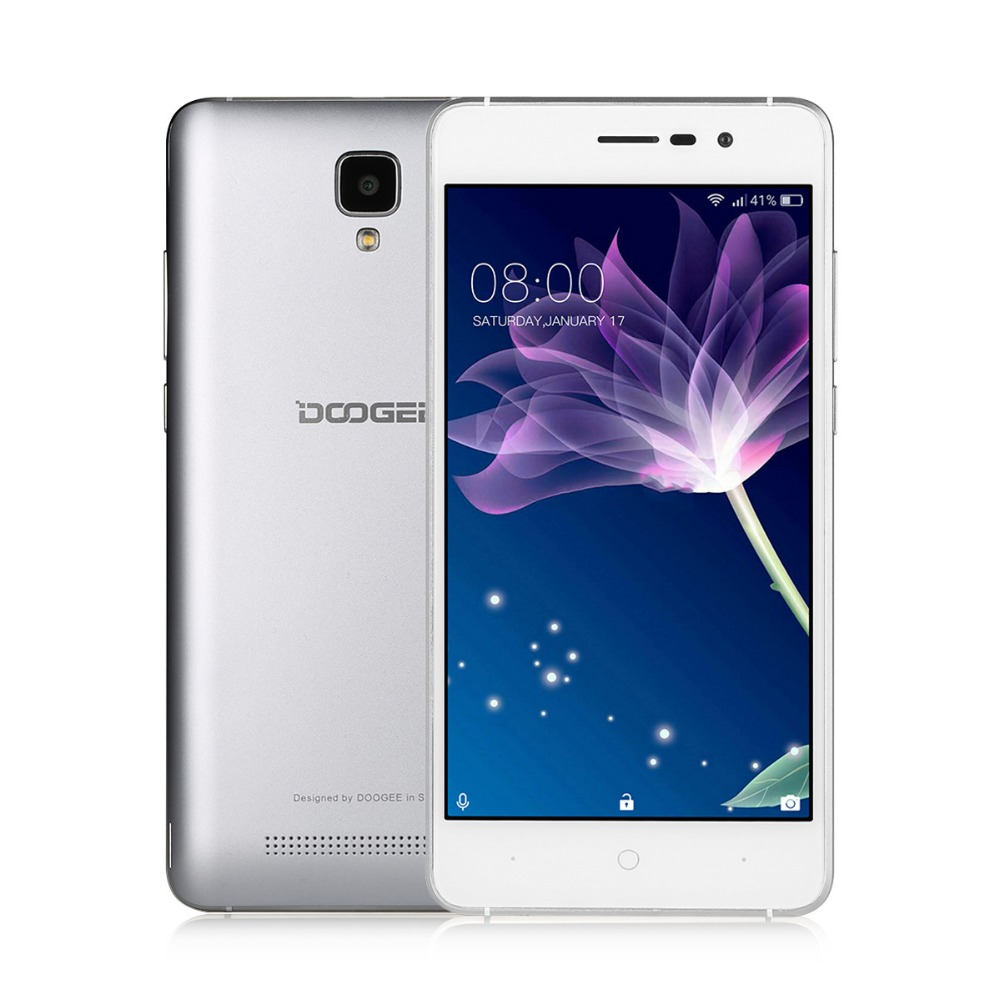 DOOGEE X10 MT6570 Dual Core 1.3 GHz 8G ROM 512M RAM Mobile Phones 3G WCDMA 5.0 Inch Smartphone Android 6.0 3660mAh Cellphone