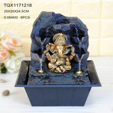 Factory wholesale price India religion resin buddha fountain livingroom decorations