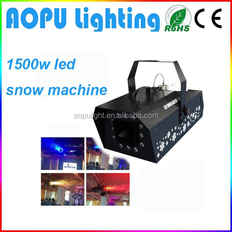 commercial snow ice machine for sale make fake dmx led 1500w snow machine