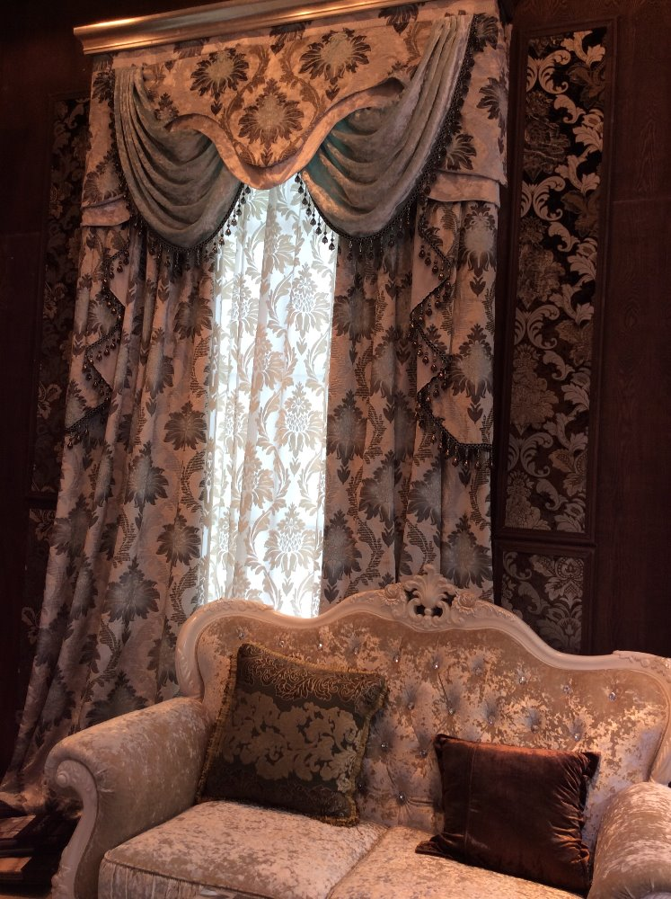 New style curtain design polyester jacquard fabric, jacquard curtain fabric