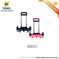 Hand Luggage Frame with Wheels Telescopic Trolley Handle with Luggage Plastic Foot Stand Airport Trolley
