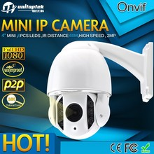4Inch Mini 2.0MP High Speed Dome HD PTZ IP Camera Security 4.9-49mm 10x Zoom Outdoor Waterproof 1080p PTZ 6pcs IR Leds P2P Onvif