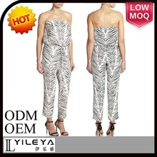 high end leopard print plus size women jumpsuits 2015