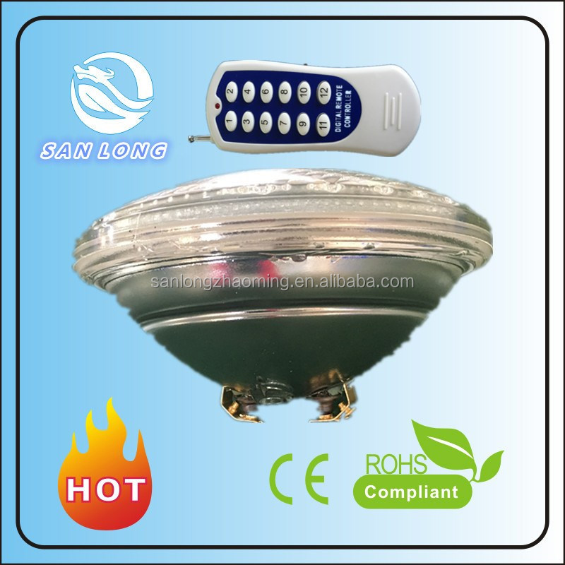 AC12v par56 25w RGB remote swimming LED pool light bulb underwater light