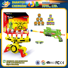 Multifunction plastic safe game machine soft bullet pop gun model