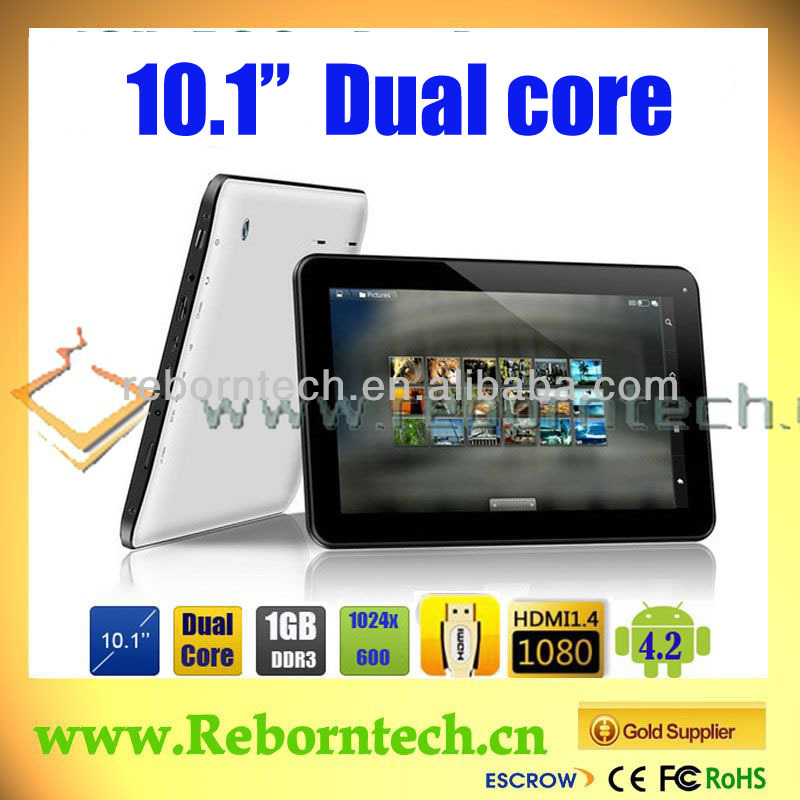Cheap tablet 10 inch Price in China with Dual core Android 2.2