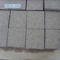 G654 Padang Dark cheap grey granite cube paving