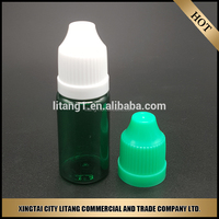2015 New 30ml e Liquid Oil Green Plastic Bottles with lid Round Green PET Smoke Oil Bottle Wholesale from Litang Company
