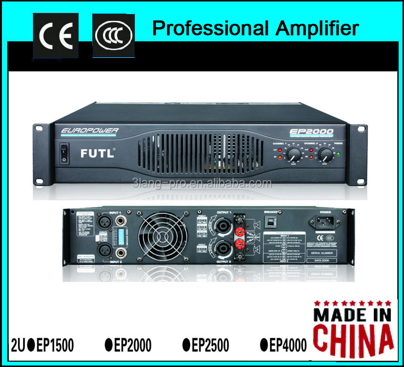 EP2500 power amplifier with 2 channel at 500watt