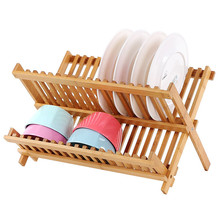 hot kitchen wooden collapsible design dish rack plate rack