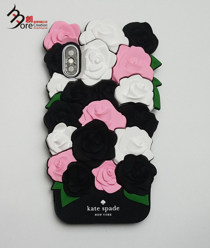 3D Rose Flower Pattern Silicone Phone case
