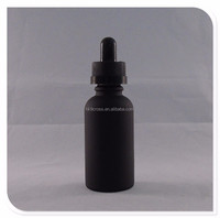 30ml frosted black glass bottle pill with eye dropper