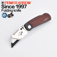 POWER ARROW Zinc Alloy Handle Folding Utility Cutter Pocket Knifes Folding blade knife