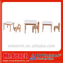 wooden children table and chairs set