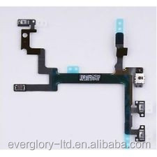 China Wholesale Mobile Phone Parts Power Switch Button On/Off Volume Button Flex Cable For iPhone 5 5G