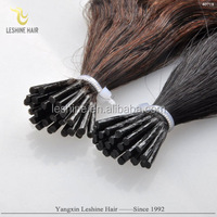 Highest Grade 10A 100% remy cheap wholesale Pre bonded double drawn I tip Hair Extension