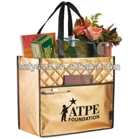 Promotional Hot Eco-friendly Non Woven Metallic Tote Bag