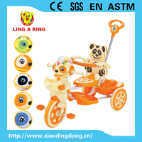 2016 popular and hot sell baby tricycle with lovely panda face