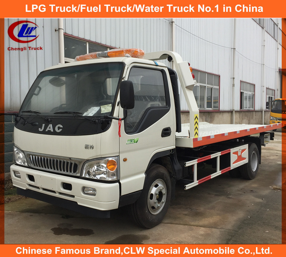 Full Landing 5tons Wreck Car Carrier Truck if JAC Low angle tilt tray wrecker tow truck for sale