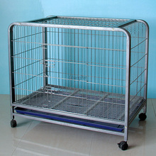 High Quality Folding Dog Cage Stainless Steel With Wheels