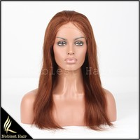 Sexy Burgundy straight brazilian virgin hair full lace wigs for white women