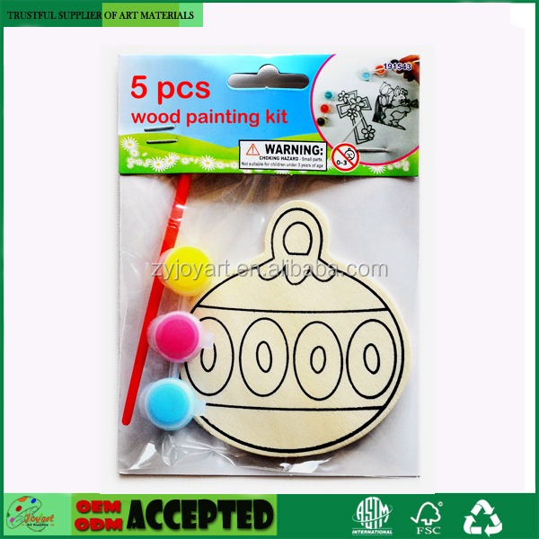 Christmas Character Color-in Wooden Hanging Decorations Kit Creative Xmas Crafts for Kids