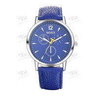Custom design your own watch, Fashion blue quartz watch