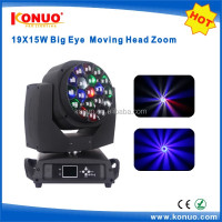 Kaleidoscope Effect stage light 19 x 15w 4in1 rgbw Led big bee moving head with zoom