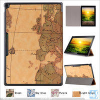 Retro World Map PU leather case with stand Cover For Google Pixel C 10.2 inch