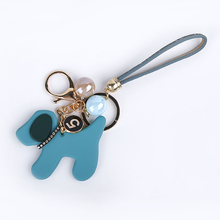 Hot style cute acrylic dog key chain for girls
