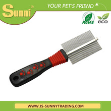 Fashion design blade easy clean hair brush and vacuum pet comb for export