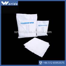 W-1001 superfine fiber microfiber polyester cleanroom wipers cleaning cloth