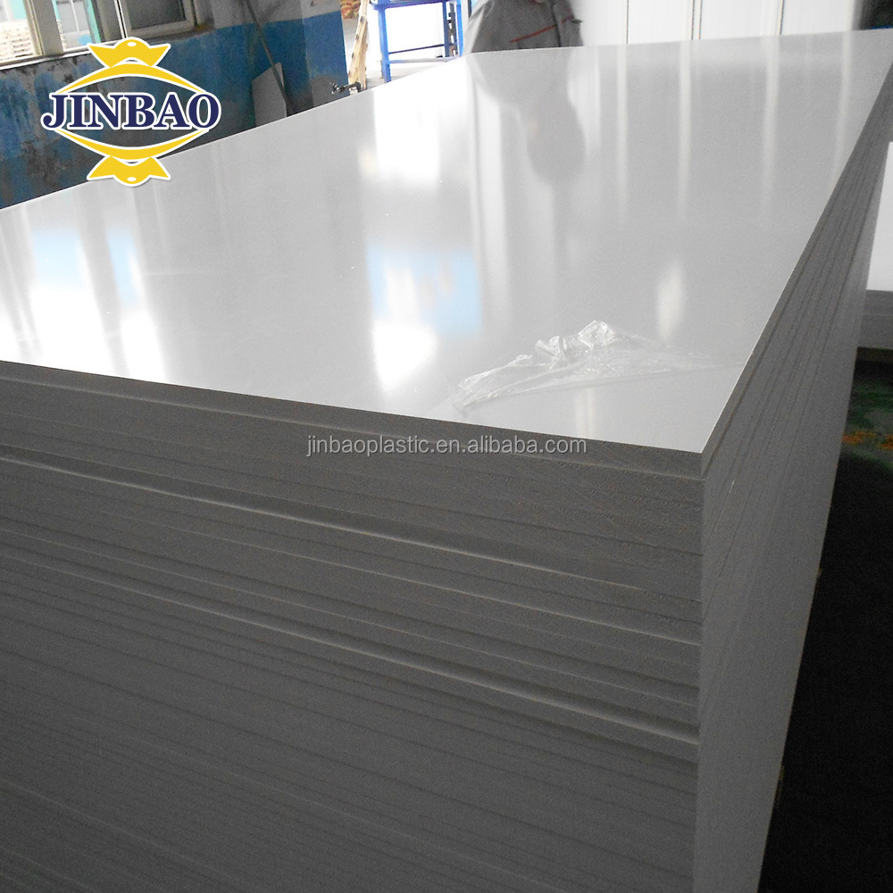 Jinbao 1220x2440mm partition sheet solid wpc pvc plastic foam board 18mm