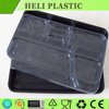 6 Compartments eco-friendly disposable plastic lunch food tray