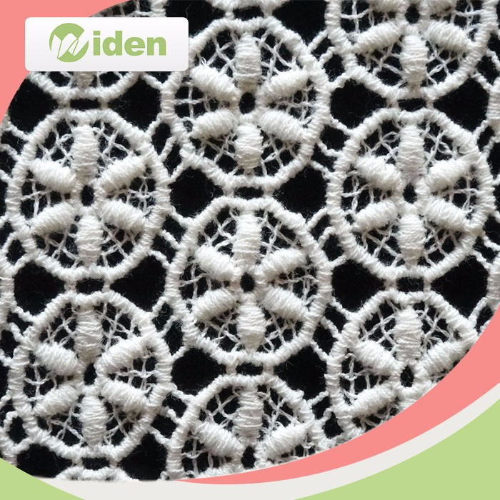 Garment accessories 100% Cottom lace embroidery fabric