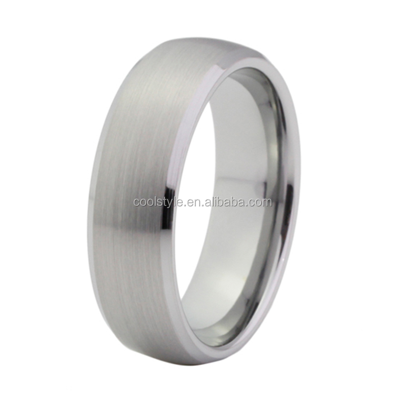 Top seller silver titanium ring with beveled and brushed finish