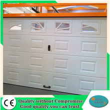 Canvas canopy electrically operated garage doors