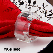 Glass bulk napkin ring for wedding,home,party decoration