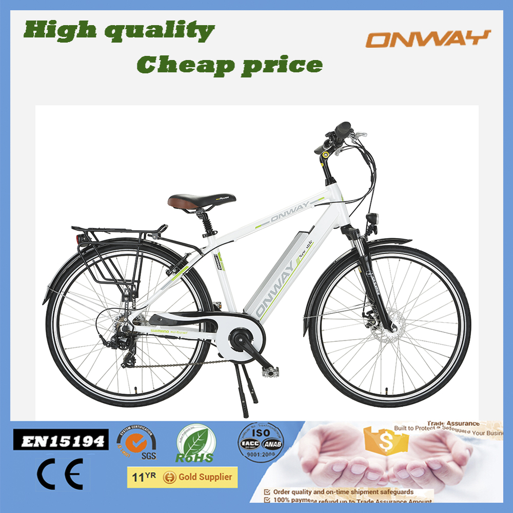 Classic france city road bikes with pedal electric lithium battery