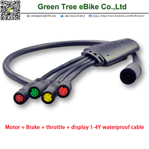 Flat waterproof shunt JY1T4 Julet 1 to 4 main cable cable for electric bike