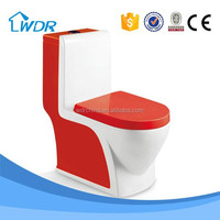 RED COLOR DESIGN WHOLESALE SIPHON TOILET BATHROOM SANITARY WARE